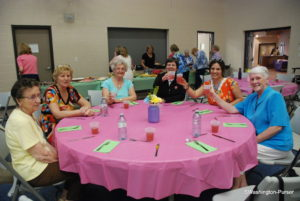 LMNO enjoying fellowship and food