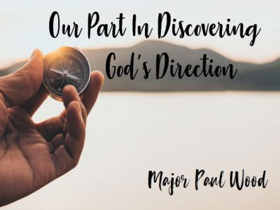 Our Part in Discovering God's Direction