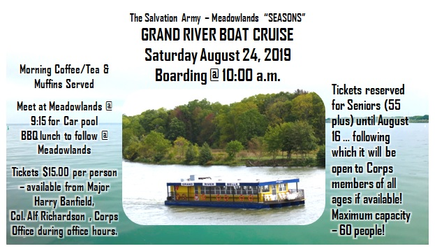 Grand River Boat Cruise August 24, 2019