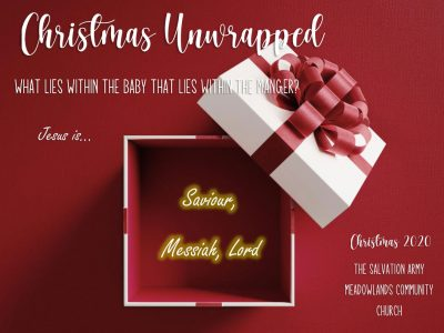 Christmas Unwrapped Jesus is the Saviour, Messiah, Lord