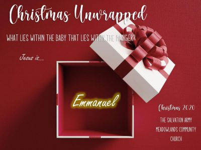 Christmas Unwrapped Jesus is the Emmanuel